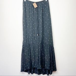SUNDANCE DYLAN NWT Navy Boho Midi Skirt Medium